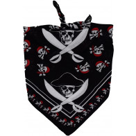 Bandana i sort med pirater