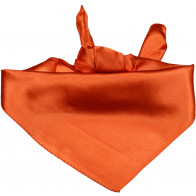 Ensfarvet satin bandana i orange